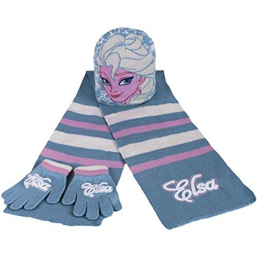 Disney set invernale cappello, sciarpa e guanti frozen elsa