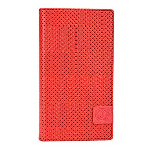 Jo Jo Cover Big Bang Series Leather Pouch Flip Case For Intex Aqua N2 Red Black