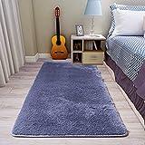 Der Fellie Fellteppich Kunstfellteppich Flauschiger Teppich Shaggy Teppich Kunstteppich Bodenteppich Wohnzimmer Schlafzimmer Dekor (80 x 160 cm, dunkelgrau)