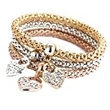3Pcs Luxury Bracelet Gold Silver Rose Gold Rhinestone - Best Reviews Guide