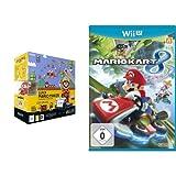 Nintendo Wii U Premium Pack Black + Super Mario Maker (vorinstalliert) + Artbook + amiibo & Mario Kart 8 (Standard Edition)