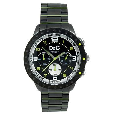 Dolce & Gabbana Men's Watch Analogue Quartz DW0193 with Black Stainless Steel Strap Black Dial