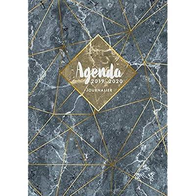 Agenda 2019 2020 Journalier: Agenda 18 mois journalier 2019-20 - format A5 - juillet 2019 à décembre 2020 - planificateur hebdomadaire - semainier