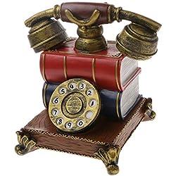 Gazechimp Juegos de Vintage Caja de Moneda Dinero Forma de Teléfono Vendimia Regalo Cabritos Niños # 1