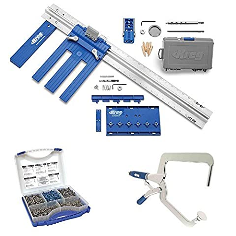 Kreg DIY Project Kit With Kreg SK03 Pocket-Hole Screws and Right Angle Clamp by Kreg