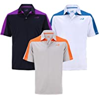 Woodworm Golf Block Panel Mens Golf Polo Shirts 3 Pack