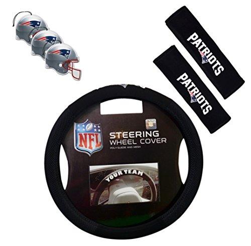 Offizielles NFL National Football League Fan Shop Authentic Auto Zubehör Bundle, New England Patriots Nfl-zubehör