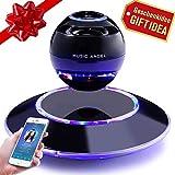 Schwebender Lautsprecher Freischwebender Lautsprecher mit Bluetooth 4.0 Multifarben LED 360 Grad Rotierende Soundeffekt (Schwarz) (xuanfu)