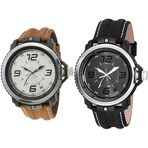 Fastrack Watches Combo (NK38017PL02,NK38017PL01)