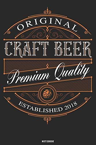 Original Craft Beer Premium Quality Notebook: Craft Beer Journal Brewery Composition Book Birthday Gift (Brewer Shirts)