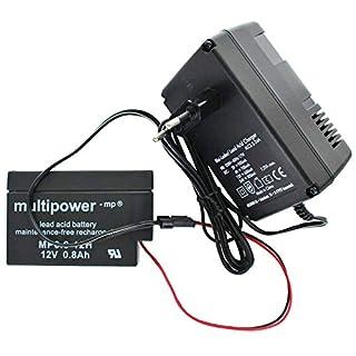 AccuCell Neu Ladegerät inklusive 1 Akku passend für den Multipower Bleiakku MP0.8-12H Heim und Haus