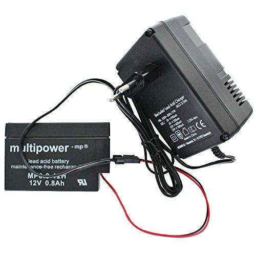 AccuCell Neu Ladegerät inklusive 1 Akku passend für den Multipower Bleiakku MP0.8-12H Heim und Haus -
