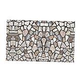 Sharplace 3D Granitbrocken Holzoptik Boden Aufklber Wandaufklelber für Balkon Wohnzimmer - # 1