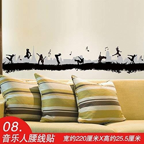 wallpaper Selbstklebende Hintergrund-Wand, Hyun Weg von der Kunst europäische Fuß-Umrandungs-Linie Selbstklebende Tapete, die tragende Stringcourse-Schlafenviertel, dekorative Wasserdichte Aufkleber - Weg Wallpaper