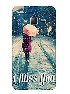 Make My Print Miss You Printed Grey Hard Back Cover For Samsung Z1