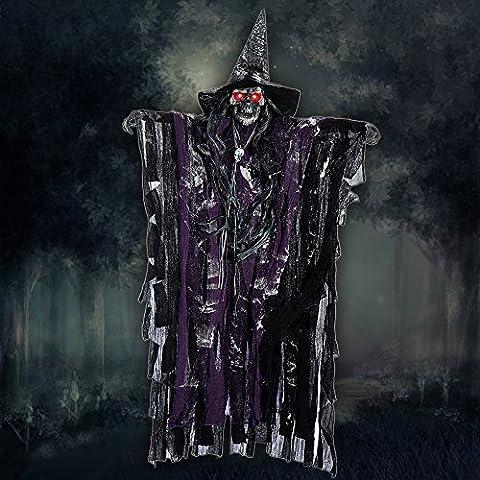 Halloween Deko Zombie Gruselig Hängend Gespenst Augen Glänzend gruselige Stimme Sound Control