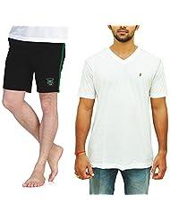 Duke Value Pack Of V-Neck T-Shirt With Bermuda By Returnfavors