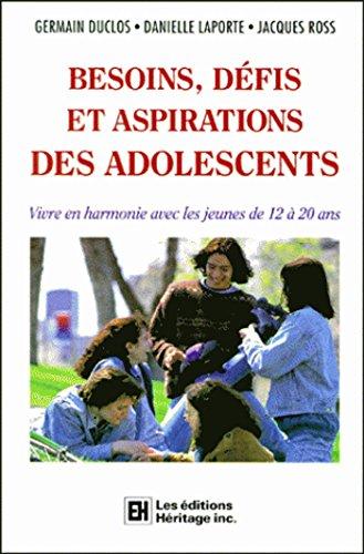 BESOINS, DEFIS ET ASPIRATIONS DES ADOLESCENTS. Vivre en harmonie avec les jeunes de 12  20 ans