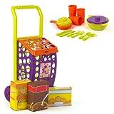 Color Baby - Set de carrito con alimentos y accesorios, 11 piezas...