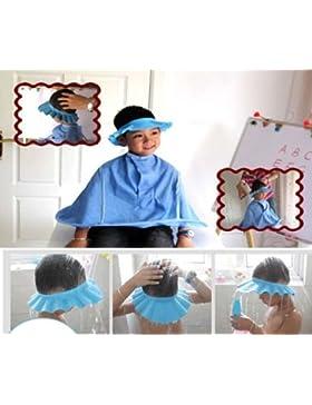 BYSTE Sicuro Shampoo Cappello da doccia bagnarsi Bagno Proteggere morbido berretto Cappello Per Bambino