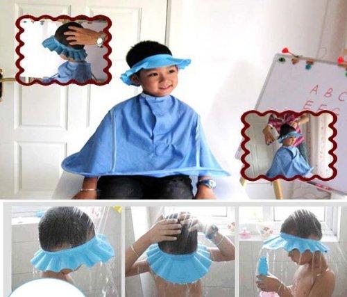Tefamore Cap Sombrero De Bebe Shampoo Ducha Baño Proteger Soft Para Los Niños (azul)