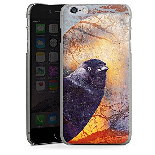 Apple iPhone X Silikon Hülle Case Schutzhülle Rabe Vogel Krähe Hard Case anthrazit-klar