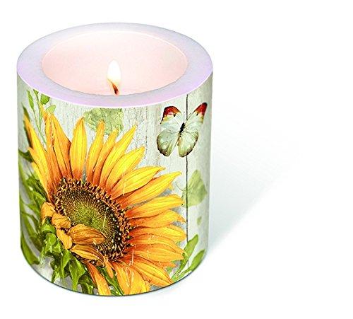 1vela Candle Vintage Sunflower Diámetro. 9cm/Altura 10cm, se envía en pantalla transparente
