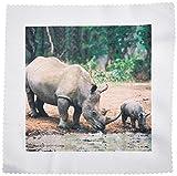 3drose QS _ 1053_ 5schwarz Rhino, Nashorn Quilt Platz,