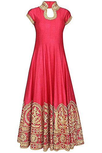 Radhe Creation semi-stitched party wear kurtis for womens - LATEST bollywood gown style kurti for ladies - HEAVY work long anarkali fancy dress (Free Size)