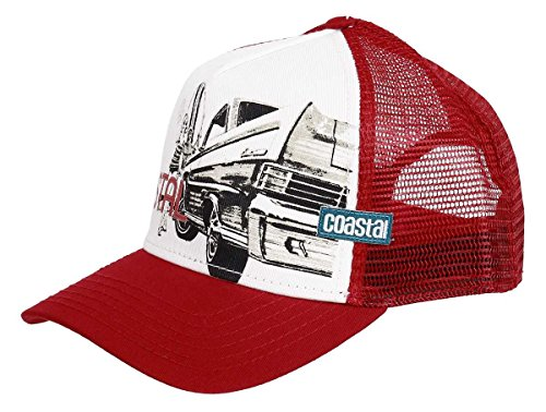 Coastal Trucker Cap Surf & Cars & Chicks Deep Red - One-Size