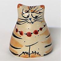 Salzkatze Salz&Pfefferstreuer Keramik - getöpfert - in gelb