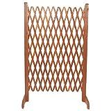 Coppia Steccato Estensibile per Giardino in Legno Trattato 140x120cm immagine