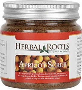 Herbal Roots Apricot Scrub - Anti Blemish, Blackhead Remover And Skin Lightening - 100 gm