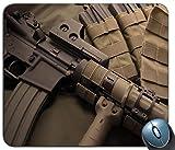 Erstaunliche Gewehr-Muster-Mausunterlage, Gedruckter Rutschfester Gummi-Bequeme kundengebundene Computer-Mausunterlage Mauspad Mousepad