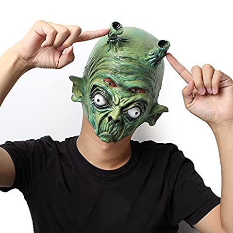 Masque: Latex Costume Head Mask for Kids and Adults Attending Theme Party (Alien)