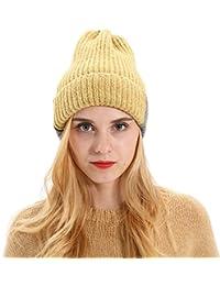 QinMM Gorro de Orejeras de Punto Sombrero Unisexo Mujer Hombre de Invierno  esquí de Beanie 83d8d5257e5
