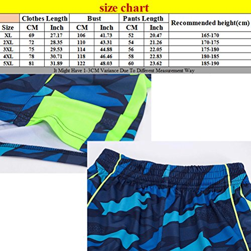 Zhhlaixing Mens Camouflage Breathable Sleeveless Gli sport Basketball Training Wear Blue