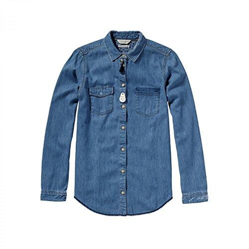 Maison Scotch Damen Hemd Western Shirt 16251220603 Denim Blue