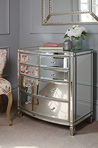 MY-Furniture - Antoinette Toughened Mirror Chest Of Drawers