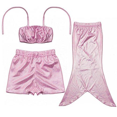 3-piece-enfant-fille-princesse-sirne-tail-baignable-bikini-maillots-de-bain-100-rose