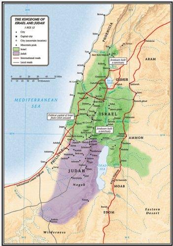 The Kingdoms of Israel and Judah Map