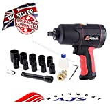 "Strong 1200Nm Max Air Impact Wrench 885 ft-lb 1/2"" SQ Drive Wheel +"