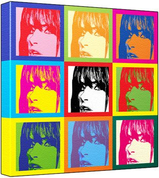 Juliette Lewis - Pop Art Print (3-Tone; Andy Warhol's Che Guevara Style) 50 x 50 x 2 cm Large Square Deep Box Canvas