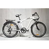 "IVEMA - E-Bike DESIGNBIKE 26"" CITYBIKE PEDELEC CRUISER Elektrofahrrad Fahrrad Tourenrad Mountainbike - Akku Li-ion 36 V Perlmutt Weiß"