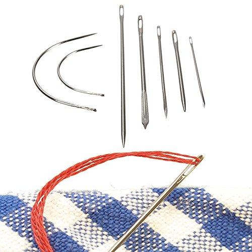 Jiayuane 7 Stücke Hand Reparatur Nähnadeln Patching Werkzeug für Polster Teppich Leder Leinwand Multifunktions Hand Reparatur