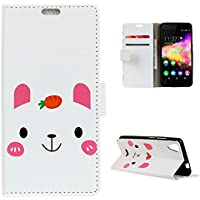 CaseFirst Wiko U Feel Go Wallet Leather Case with Protective Durable Premium Shell Folio flip Cell Phone Cover Bag with Card Slots,Cash Pocket,Cartoon Pattern