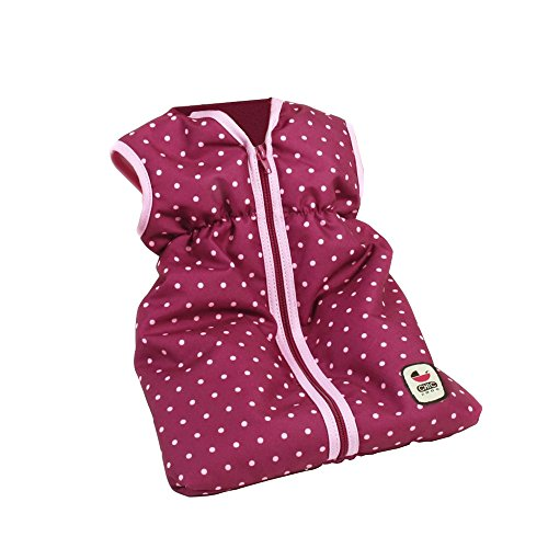Bayer Chic 2000 792 29 – Puppen-Schlafsack, Dots Brombeere, lila/rosa