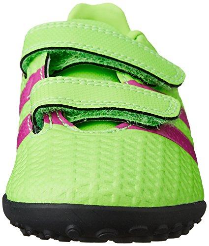 adidas Ace 16.4 Tf J Hl, Chaussures de Football Mixte Bébé Vert / Rose / Noir (Versol / Rosimp / Negbas)