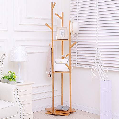 XIN Kleiderständer Kleiderständer Haushalt Multifunktions Standplatz kann drehen Bambus Kunst Lagerung ungestört stabil und langlebig, Kleidung Baum -