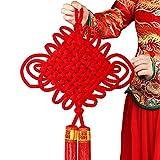Art Beauty Nodo cinese grande rosso lunare Capodanno decorazioni buona fortuna benedizione nappa ornamento tradizionale per il festival di primavera, decorazione domestica